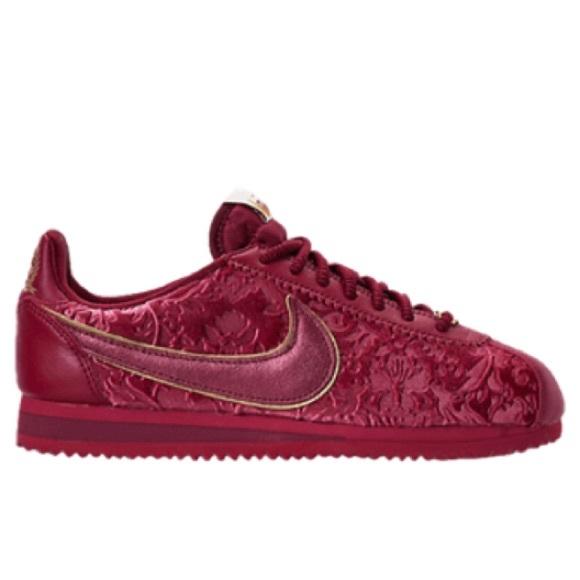 Nike Classic Cortez Red Velvet Sneakers